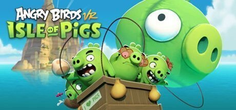 Angry Birds VR Isle of Pigs interactive virtual slingshot game