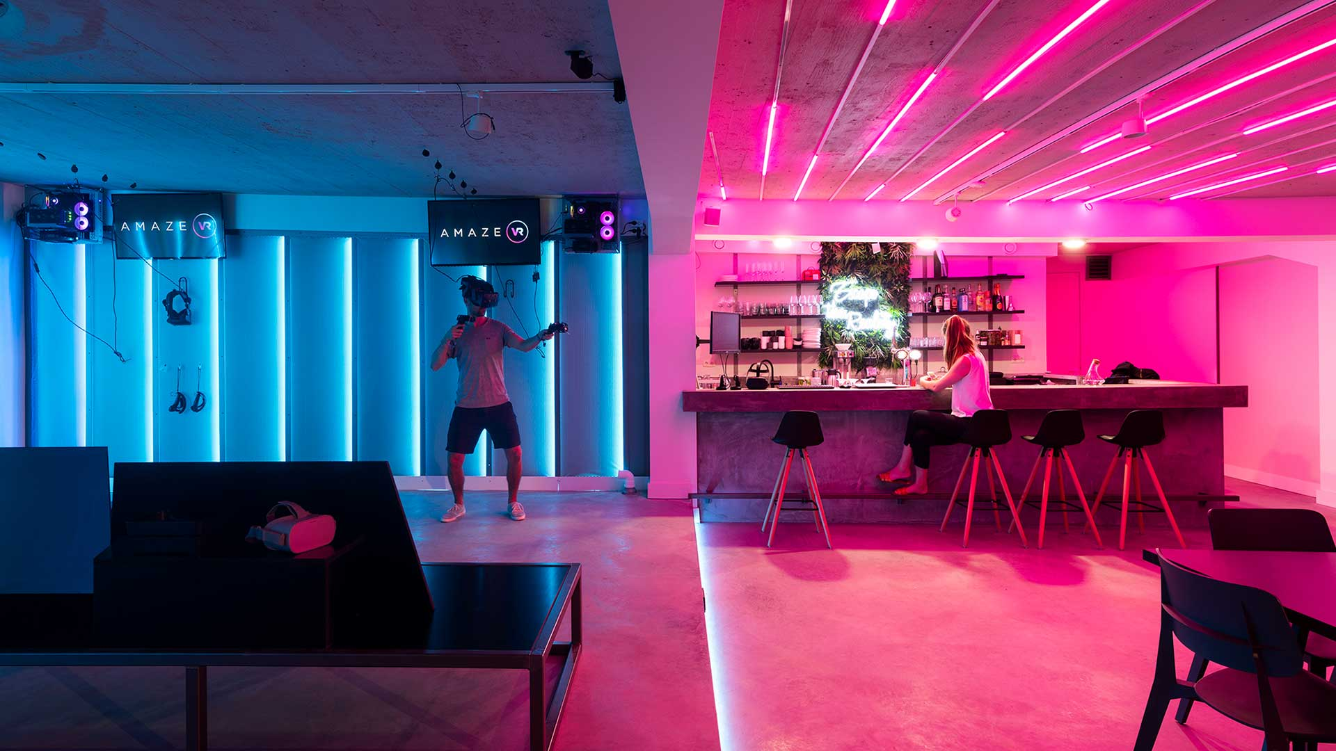franchise slider amaze vr bar arcade
